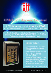 KPA3 Lift Access Control Key pad