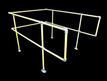 Light Weight Fixed Car Top Barrier Set