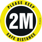Buy Online - Circular Safe Distance Adhesive Floor Sign virus control